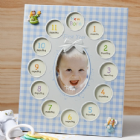 Baby Boys First Year Collage Photo Frame